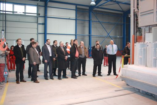 Official opening of new production bay and kiln switch on